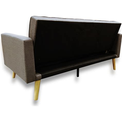 Amy Click Clack Fabric Sofa Bed With 2 Pillows Buy Sofa Beds Click Clack Sofa Beds