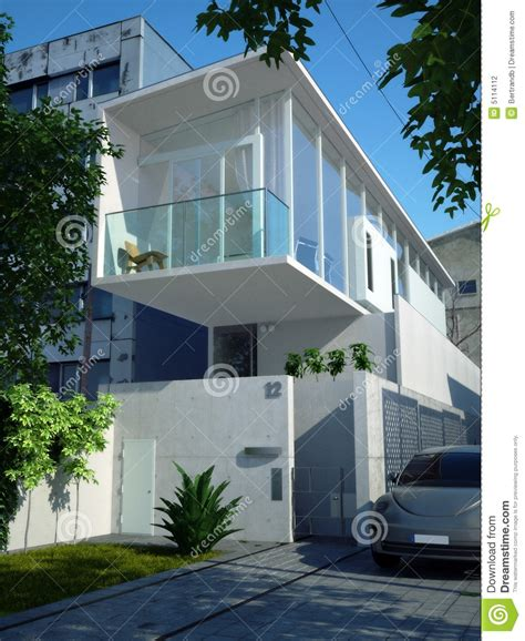 Habitation Sans Permis De Construire 3821 by Casa Minimalista Moderna Fotografia De Stock Imagem 5114112
