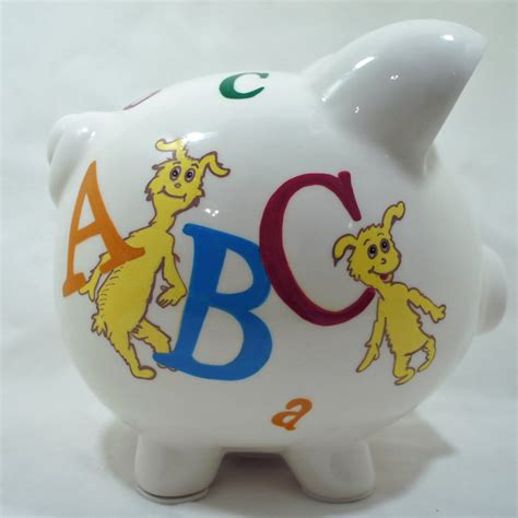 toddler piggy bank personalized piggy bank for abc dr seuss nanycrafts
