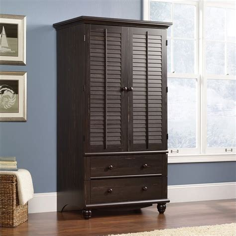 sauder harbor view armoire antiqued paint harbor view armoire in antiqued paint 401322