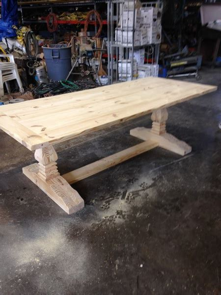 trestle table legs woodworking talk woodworkers forum