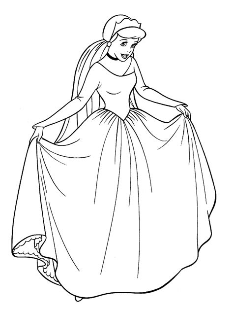 Coloring Page For by Free Printable Cinderella Coloring Pages For