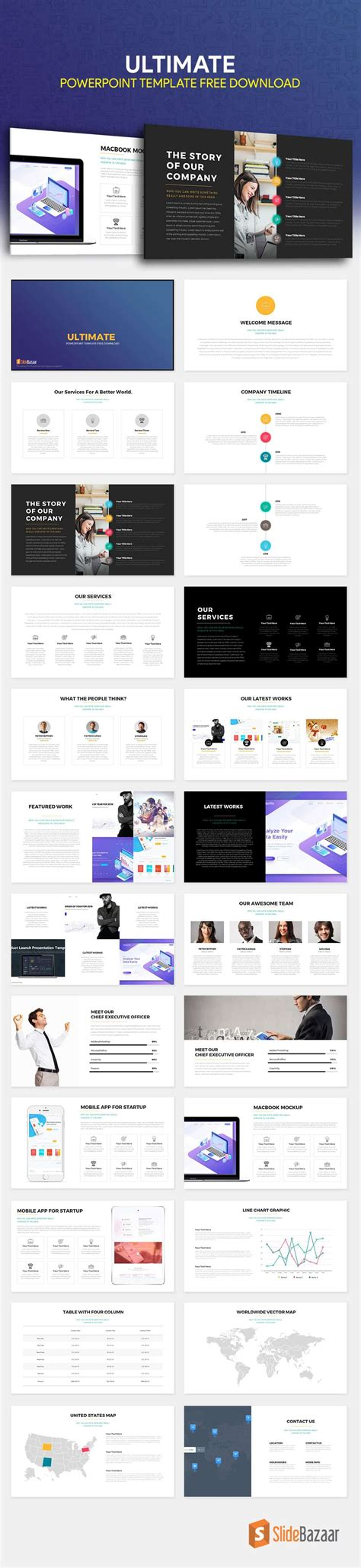 ultimate powerpoint template free download slidebazaar