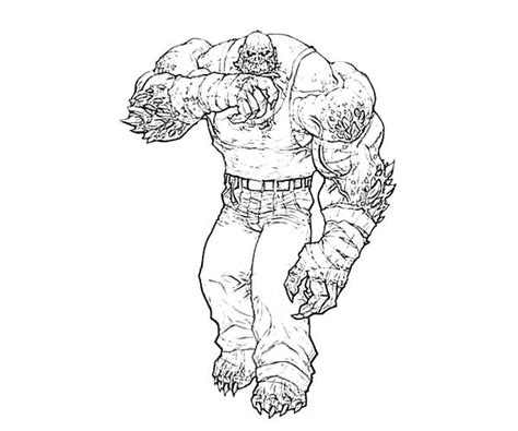 strong killer croc in bane batman coloring pages best