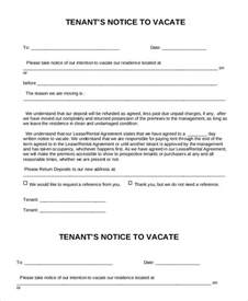 Agreement Letter To Vacate Premises Notice To Vacate Form 9 Free Word Pdf Documents Free Premium Templates