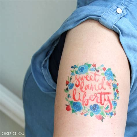 watercolor tattoos temporary make watercolor fourth of july temporary tattoos lou