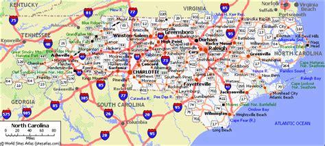 road map of carolina and virginia webquest