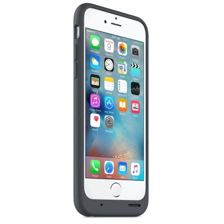 official iphone 6s smart battery case charcoal grey