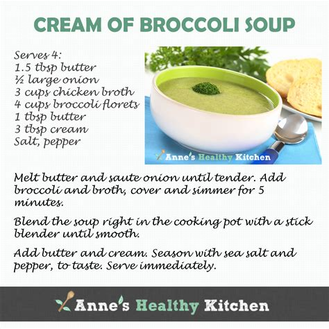 Printable Soup Recipes | recipe card cream of broccoli soup you can get the full