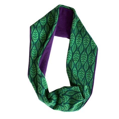 green leaf lambswool circular scarf by sally nencini