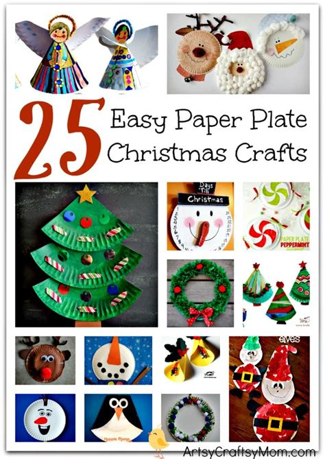 25 easy paper plate christmas crafts for kids artsy