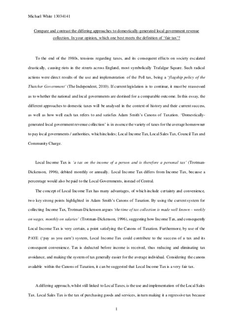 Government Essay by Local Government Finance Essay
