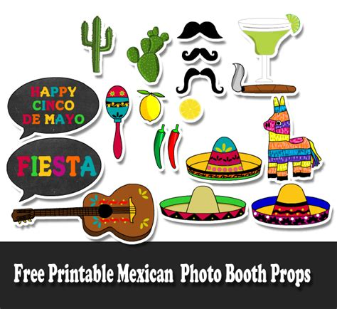 cinco de mayo printable photo booth props 700 free printable photo booth props