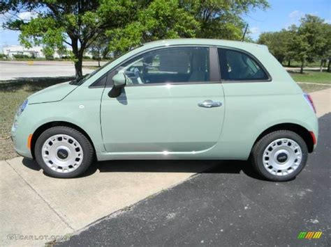fiat green verde chiaro light green 2012 fiat 500 pop exterior