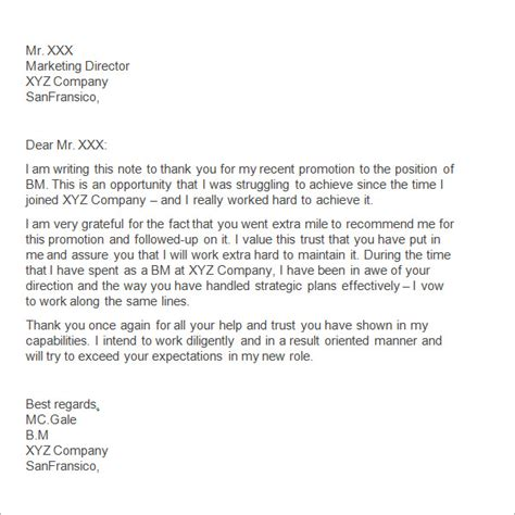 best solutions of sample thank you letter to boss for support enom