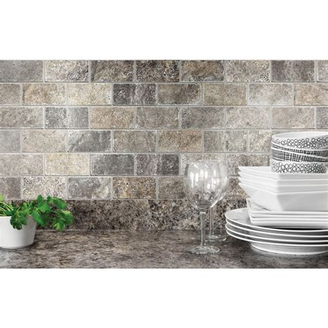 shop anatolia tile silver crescent brick mosaic natural