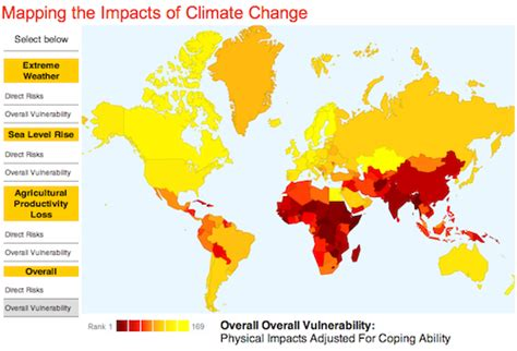 global warming impact map us climate justice environmental center of