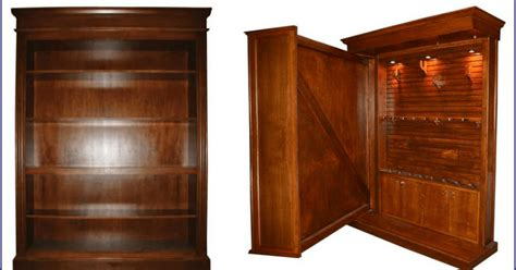 hidden gun cabinet bookcase 10 cool secret gun cabinets for your home pics
