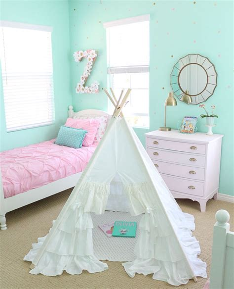 vintage girly bedroom adding whimsy with a girly vintage teepee