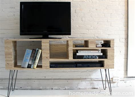 homemade modern diy tv stand 10 doable designs bob vila
