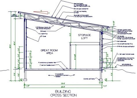Free Pole Shed Plans by Single Slope Pole Barn Plans Studio Design Gallery