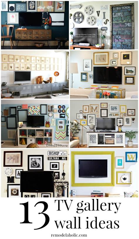 picture gallery ideas remodelaholic 95 ways to hide or decorate around the tv electronics and cords