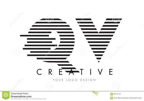 logo black and white stripes qv q v zebra letter logo design with black and white stripes stock vector image 90747170