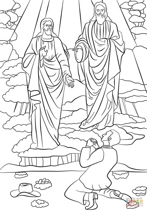 joseph smith first vision coloring page free printable