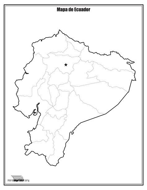 da clic para ver en grande e imprimir mapa de ecuador sin nombres para imprimir
