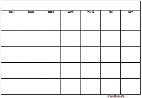 Blank Calendars To Print 10 Blank Calendar Grid Collection 2015 To Print 2016