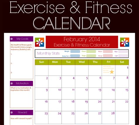 monthly workout calendar template 9 fitness calendar templates excel templates