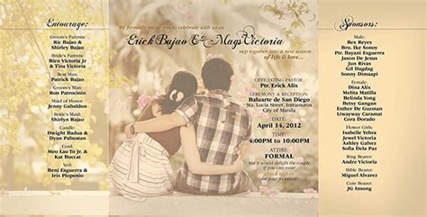 wedding layout philippines m e wedding invitation on behance