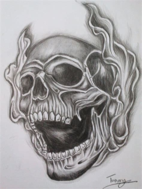 sick skull tattoo designs sick skull pencil and in color
