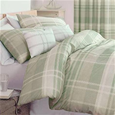 Green King Size Duvet Covers Modern Glencoe Check Design Printed Bedding Duvet Quilt