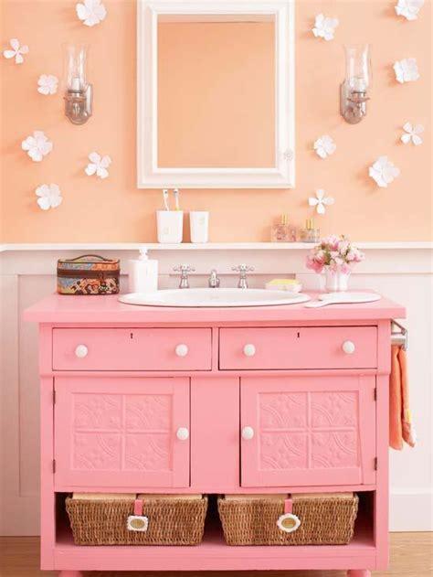 pink bathroom vanity rich warm colors can be calming