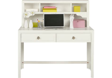 belcourt jr white desk amp hutch desks white