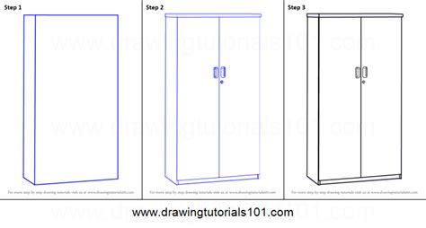 learn how to draw kitchen cabinets furniture step by how to draw a cupboard printable step by step drawing
