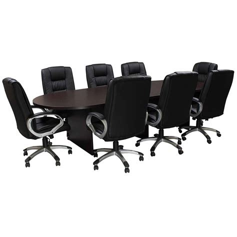 everyday 10 foot laminate racetrack conference table with