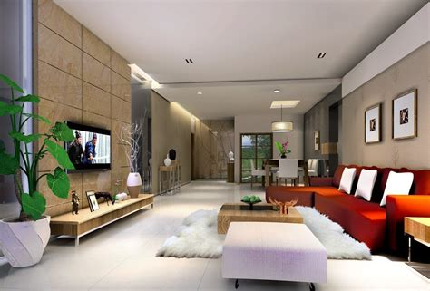 simple ceiling living room villa interior design 3d 3d