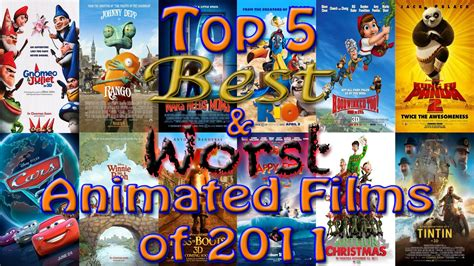 best animations top 5 best worst animated of 2011