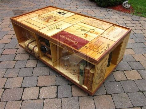 Recycled Wine Crate Coffee Table Home Diy Pinterest Diy Wine Crate Coffee Table