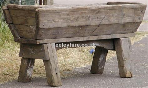 themes prop hire 187 medieval 187 large tall wood water trough 4 keeley hire