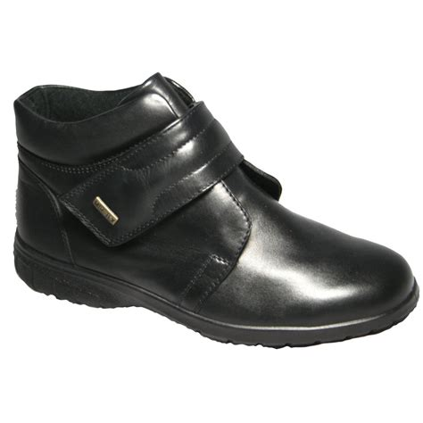 cotswold chalford black leather waterproof ankle