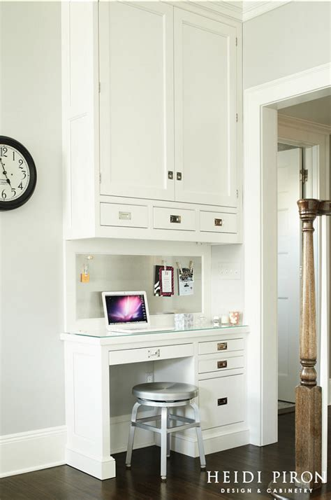 small kitchen desk ideas transitional white kitchen home bunch interior design
