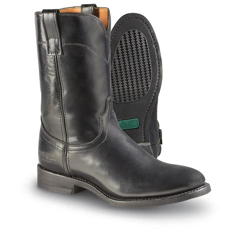 mens boots black s guide gear 174 roper boots black 174400 cowboy