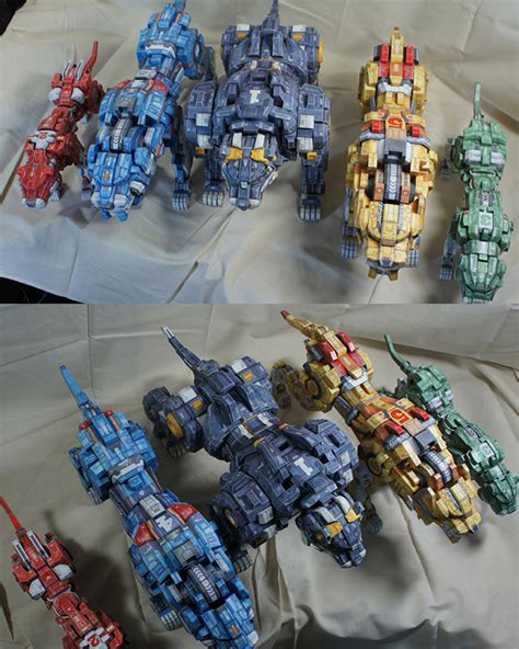 papercraft quot zoid voltron quot on behance