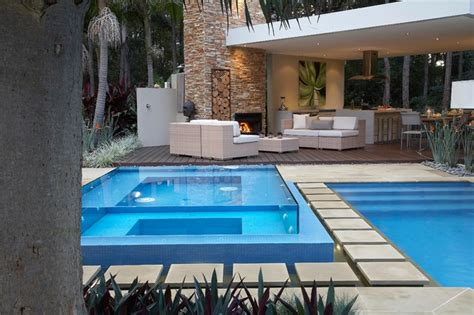 modern pool resort style living contemporary pool sydney by