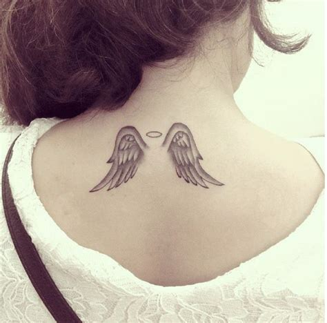 angel wings with halo tattoo designs small wings i this tattoos