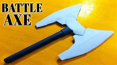 How To Make A Axe Out Of Paper - how to make a paper headed battle axe
