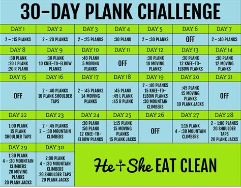 30 day plank challenge calendar search results for 30 day plank challenge printable chart